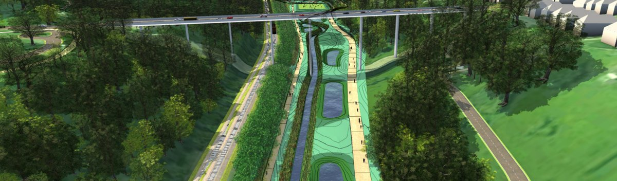 Four Mile Run green infrastructure concept designs