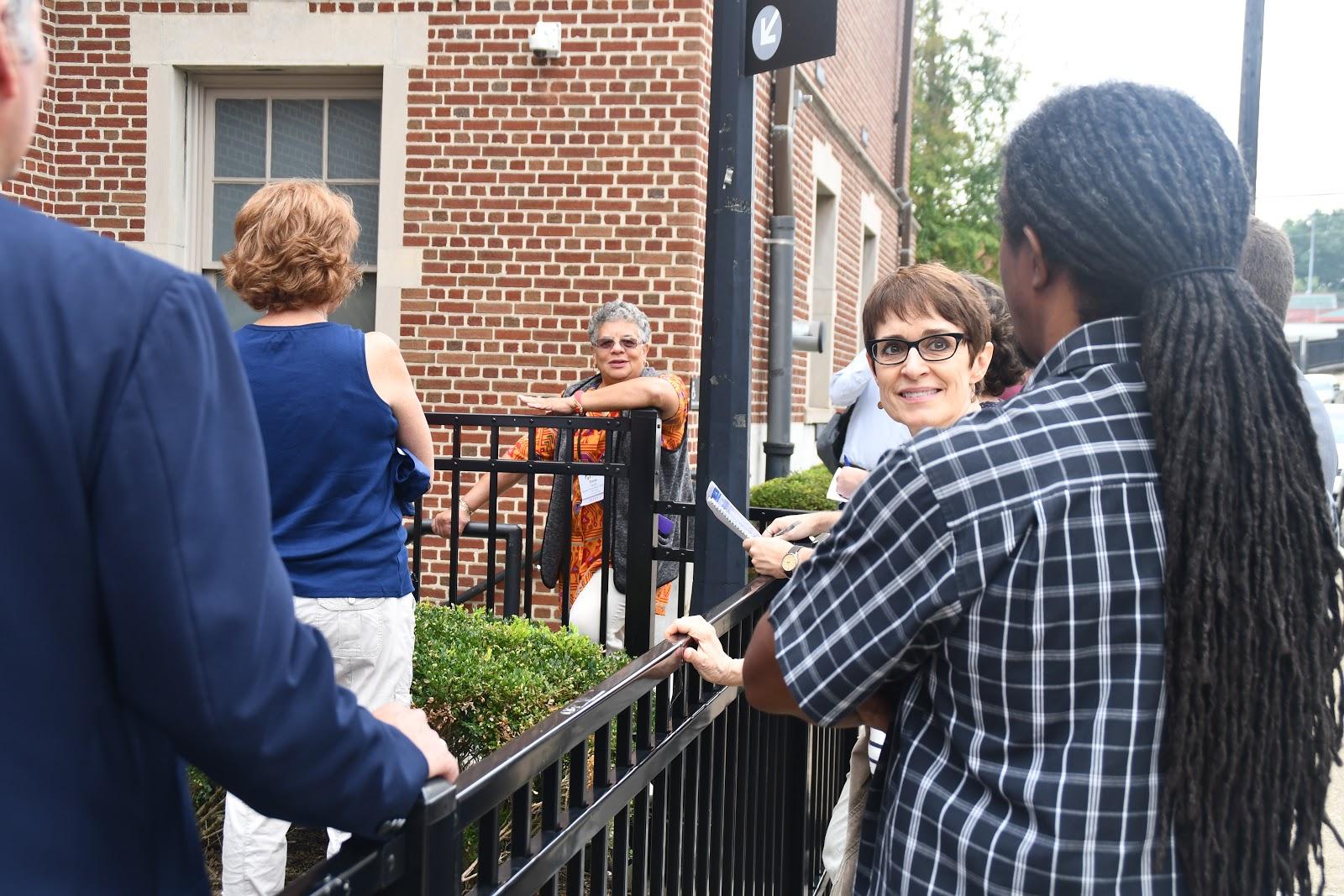 Zinna Scott, Jerome Jackson of OBB and Brenda Smith at the Homewood Public Library.